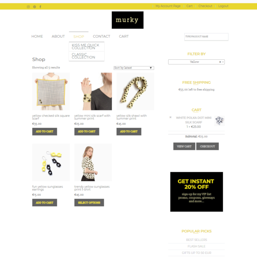 how to shop browse the online murky fashion brand shop