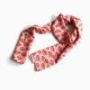 long silk scarf shawl coral pink