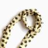 long silk scarf yellow