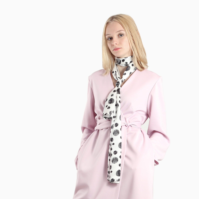 polka dot designer silk scarf
