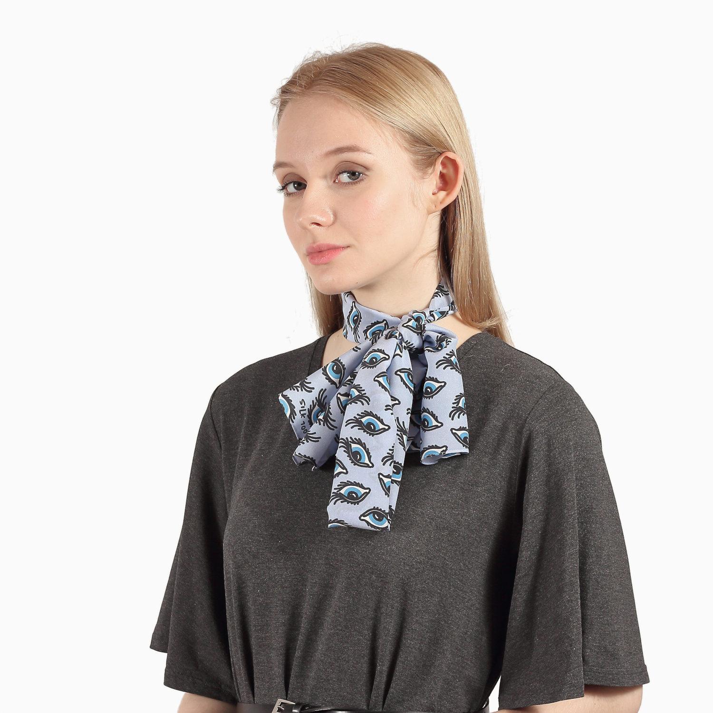 blue silk shawl